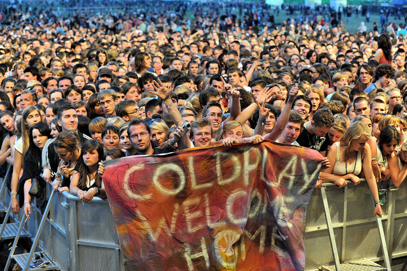 фаны Coldplay