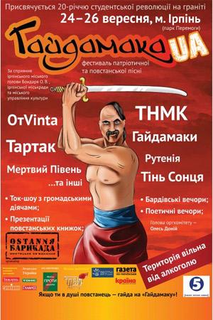 Фестиваль Гайдамака в Ірпіні