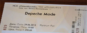 билет на концерт Depeche Mode в Киеве
