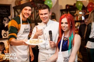 Гордиенко и Кензов учились готовить равиоли