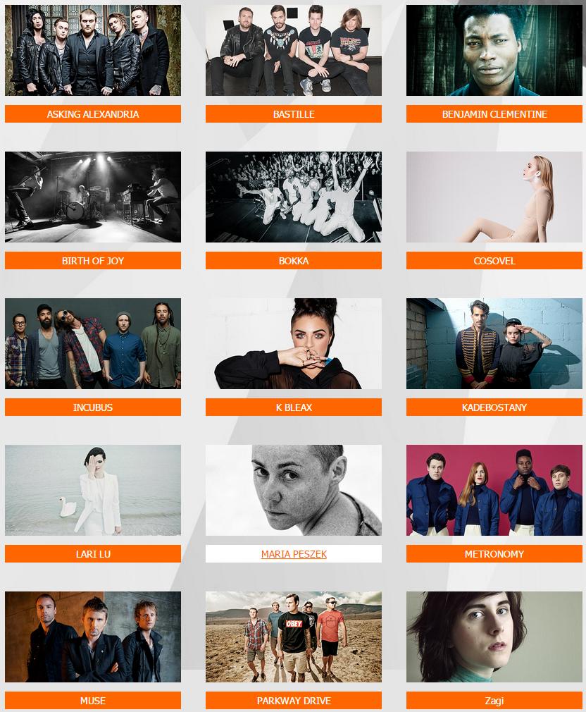Orange Warsaw Festival 2015 line-up