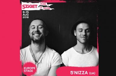 5NIZZA виступить на Sziget 2018